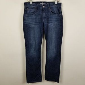 7 For All Mankind Carsen Easy Straight Jeans 31x30